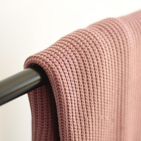 Maille tricot - vieux rose