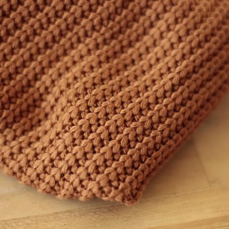 maille tricot au mètre - fauve
