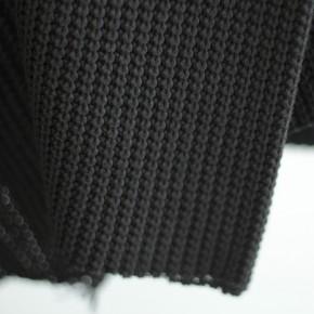 tissu tricot maille noire