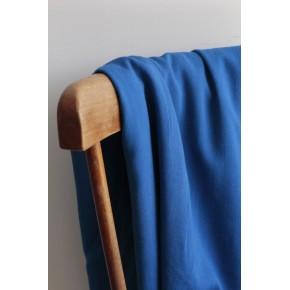 tissu viscose texturée stretch bleu