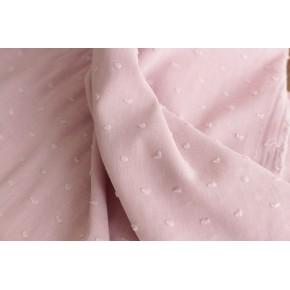 tissu plumetis vieux rose