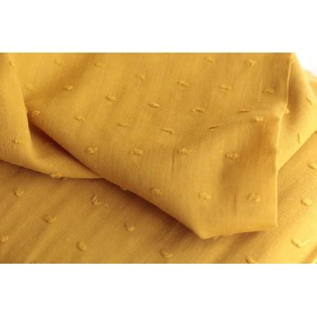 tissu plumetis - moutarde