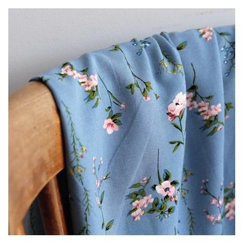 Tissu Viscose Patricia - bleu