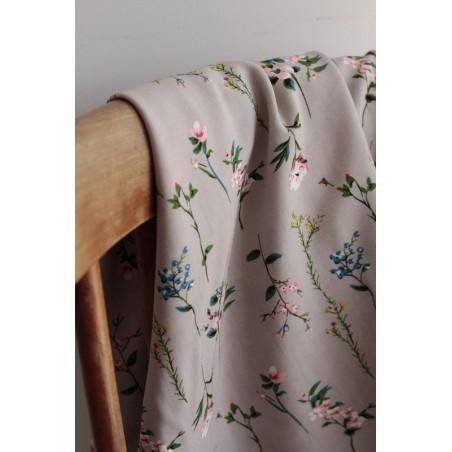 viscose fleurs patricia - beige