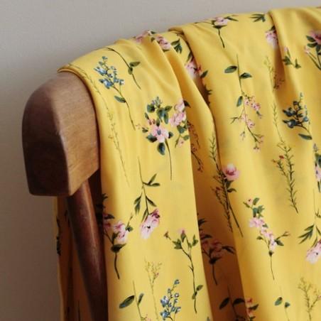 Tissu Viscose Patricia - jaune