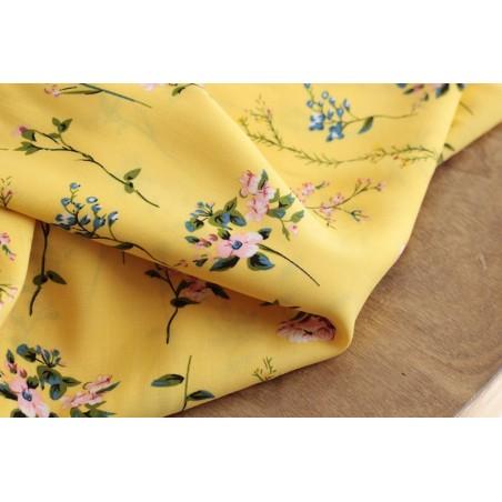 tissu viscose fleurie