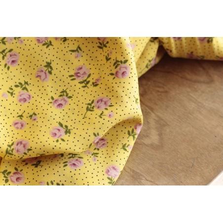 viscose fleurs jaune