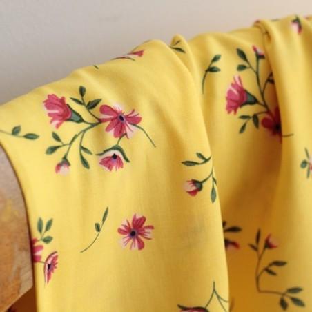 Tissu Viscose Jacqueline - jaune