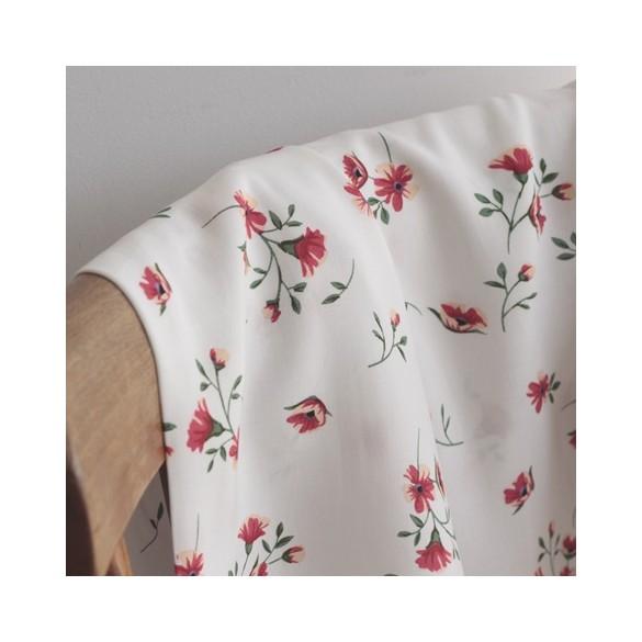 Tissu Viscose Jacqueline - blanc