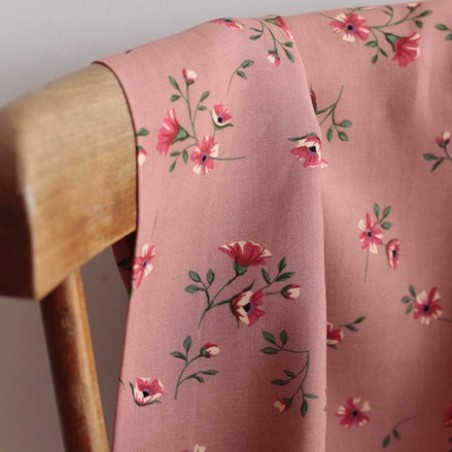 Tissu Viscose Jacqueline - vieux rose