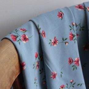 Tissu Viscose Jacqueline - bleu