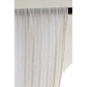 tissu brodé rayures - blanc