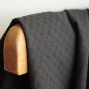 Coton brodé grid - noir