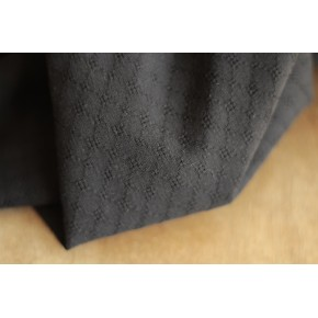 tissu en coton brodé noir