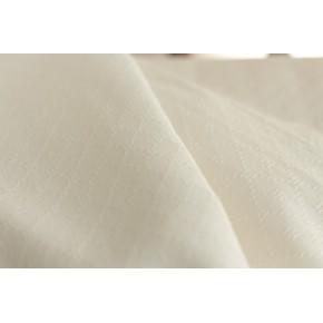tissu en coton brodé écru