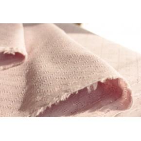 tissu en coton brodé rose