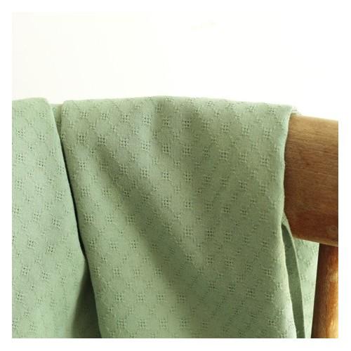 Coton brodé grid - vert tendre
