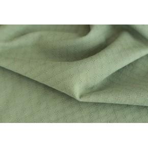 tissu coton brodé vert