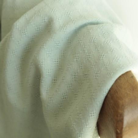 Coton brodé grid - vert pâle