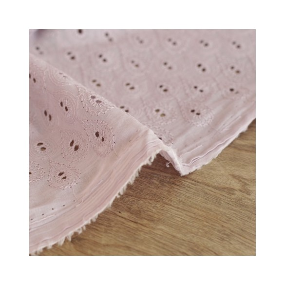 Broderie anglaise - Sidonie vieux rose