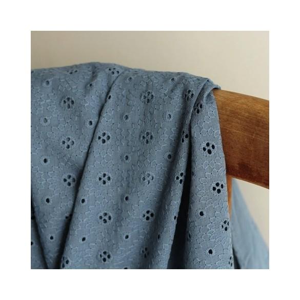 Broderie anglaise - Adelaïse bleu