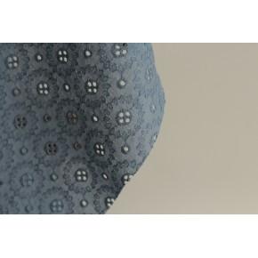 tissu en coton brodé bleu - adelaïse