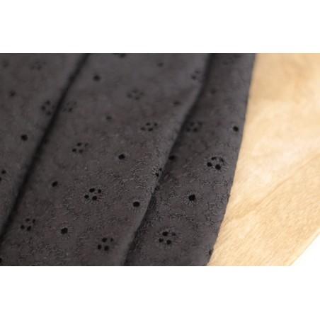coton brodé noir