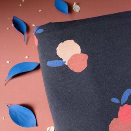 tissu french terry néroli night - atelier brunette