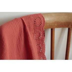 tissu double gaze de coton - terracotta