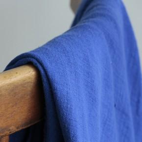 Gaze de coton Eole - bleu royal