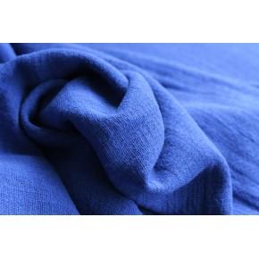 tissu gaze de coton éole bleu royal