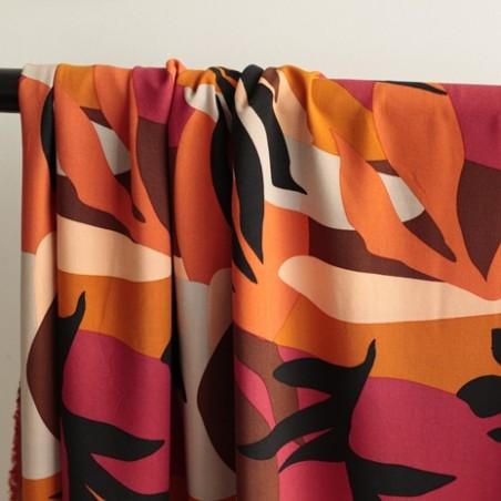 Tissu Viscose sunshine - orange