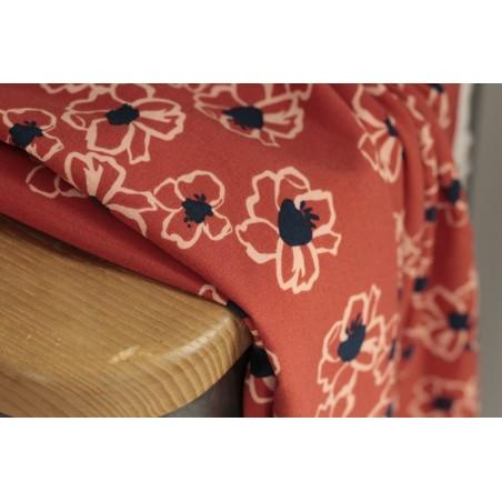 tissu viscose imprimée fleurs
