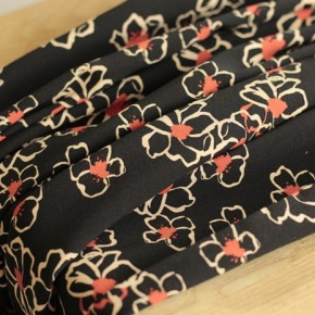 Tissu popeline de viscose stretch Mel - noir