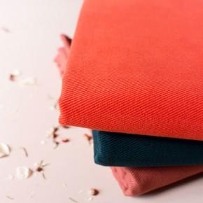 tissu atelier brunette - gabardine orange