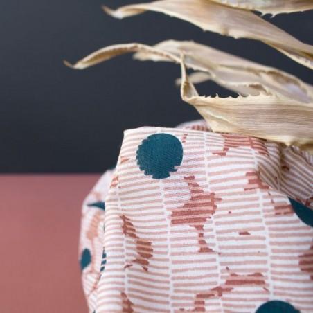 gaze de coton atelier brunette - mirage forest
