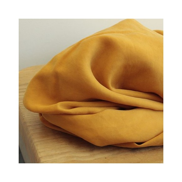Tissu Tencel - ocre