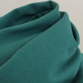 tissu en jersey de coton bio - vert canard