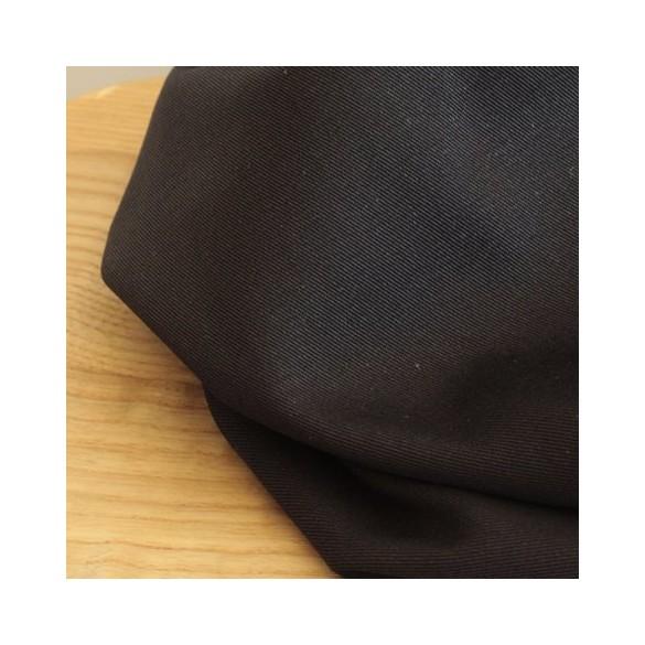 Gabardine de coton - noir