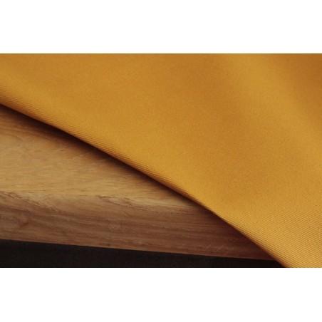 tissu gabardine ocre en coton