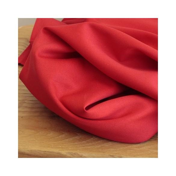 Gabardine de coton - rouge