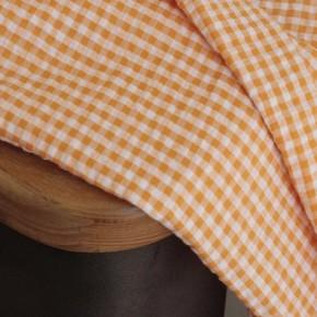 tissu seersucker en coton vichy