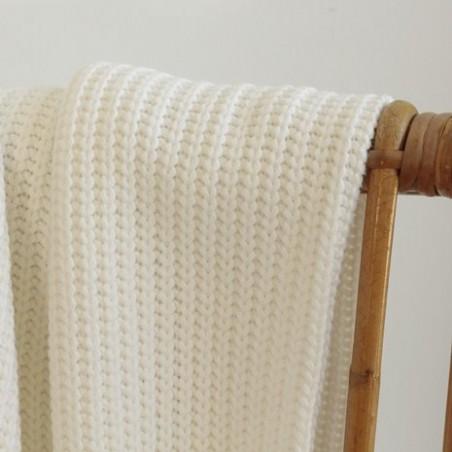 Maille tricot - blanc cassé