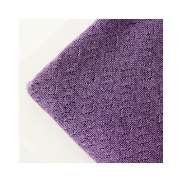 Organic gem pointelle - violet fig