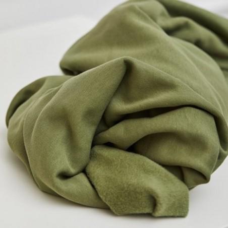 ORGANIC BASIC BRUSHED SWEAT - OLIVE GREEN