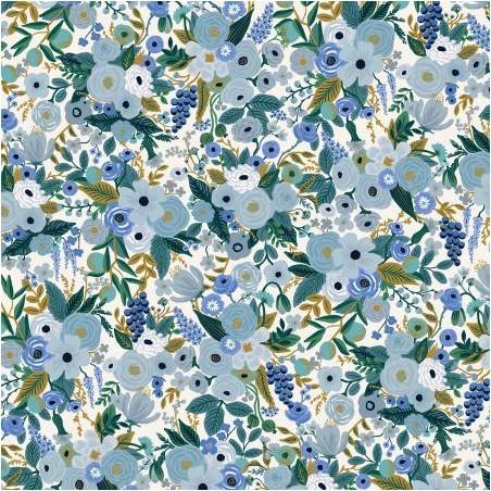 Petite Garden Party - Blue Fabric - Rifle paper co