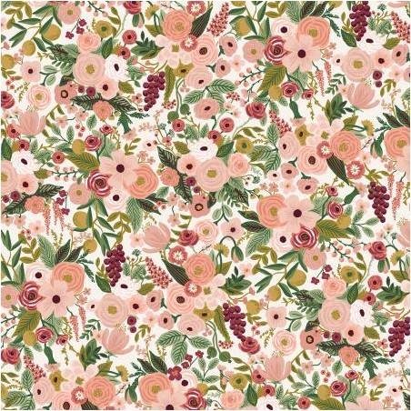 Petite Garden Party - rose Fabric - Rifle paper co