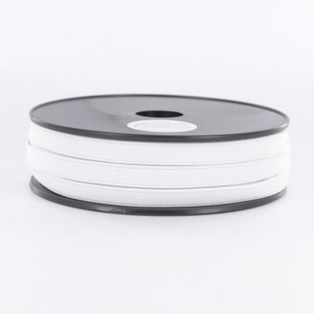 Elastique côtelé blanc 10mm