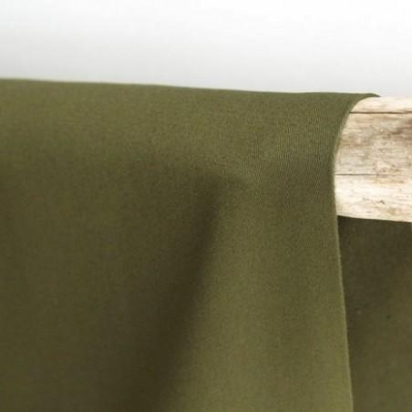 Gabardine coton - kaki