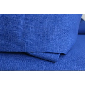 TISSU LIN RAMIE - bleu royal